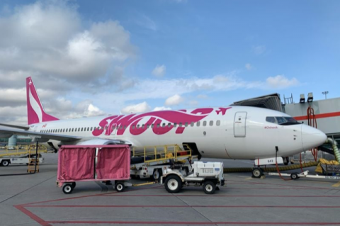 Canadian airlines Swoop (above) and Flair will begin service to Sanford in the fall.