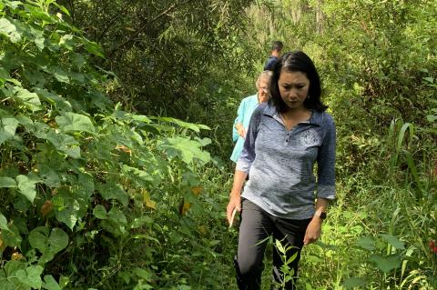 U.S. Rep. Stephanie Murphy walks on land that was once the Little Wekiva River, one of the main tributaries to the scenic Wekiva River in Seminole.