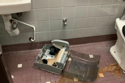 Seminole County Public Schools released pictures of damage caused by students as part of the TikTok challenge.